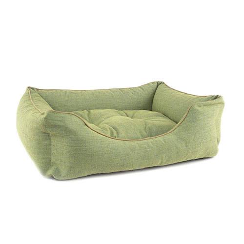 Cama para perros TK-Pet Iris tipo cuna mullida color verde deluxe