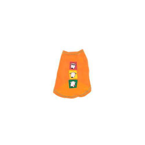 Camiseta manga corta naranja caras de perro