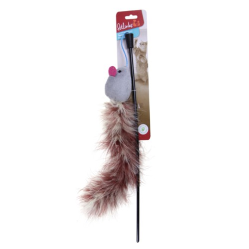 Caña con plumas para gatos Teezer Tail