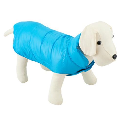 Capa acolchada para perros Candy turquesa