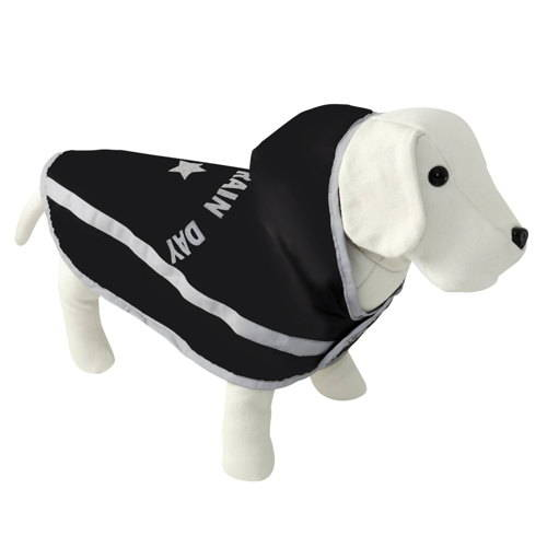 Capa impermeable para perros enjoy rain day negro