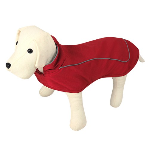 Capa impermeable para perros Gales rojo