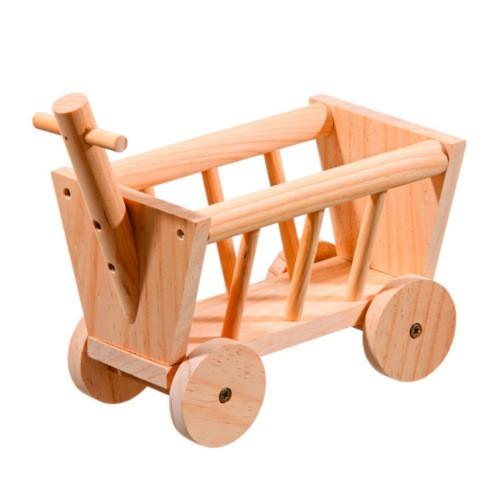 Carro de madera para roedores