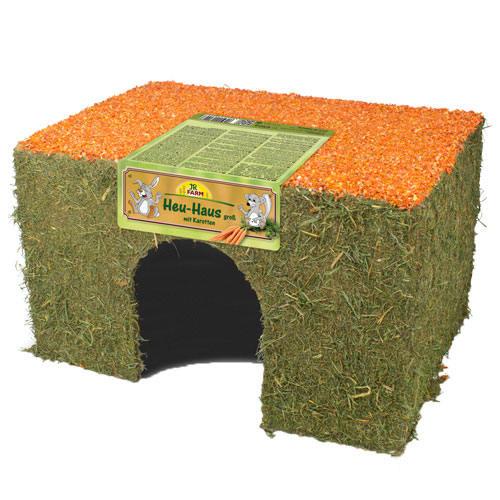 Casa de heno con zanahoria JR Farm para roedores y conejos