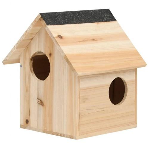 Casa de madera para ardillas color Marrón