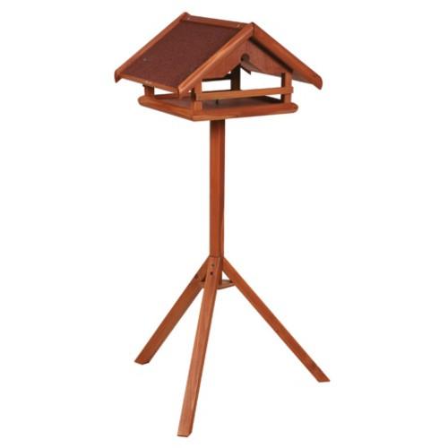 Casa de madera para aves con soporte
