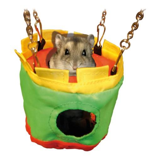 Casa de nylon colgante para pequeños roedores