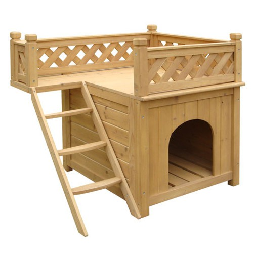 TK-Pet Maison two floors wooden hut for dogs