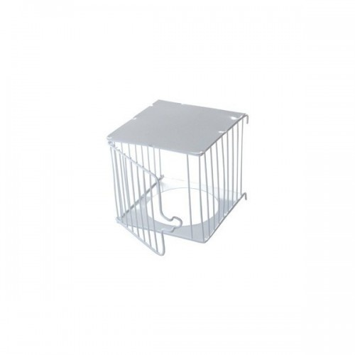 Caseta nido exterior de metal para pájaros color Blanco