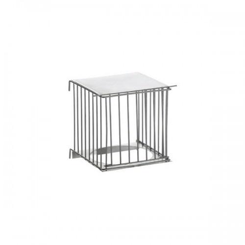 Caseta nido para el exterior de la jaula de metal zincado