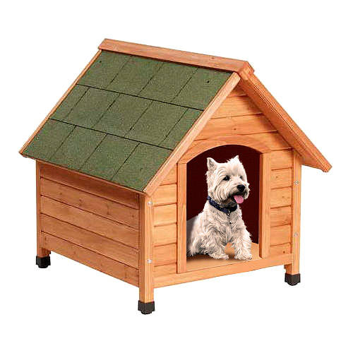 Wooden dogs house Technical Pet Woof