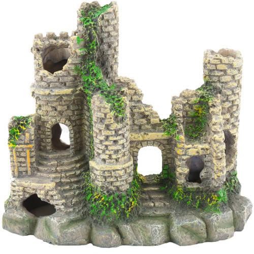 Castillo para acuario estilo feudal