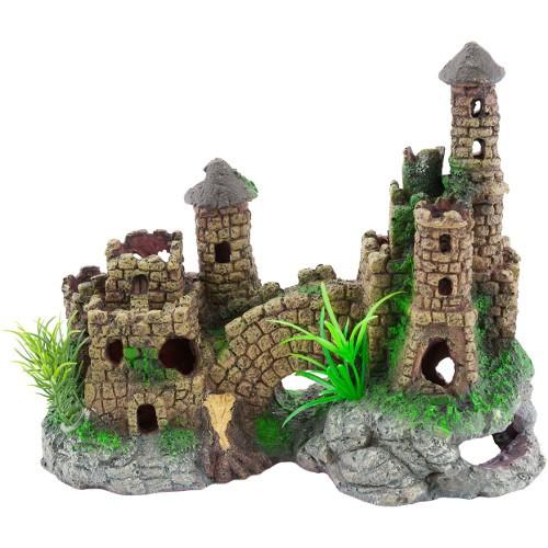 Castillo para acuario estilo medieval