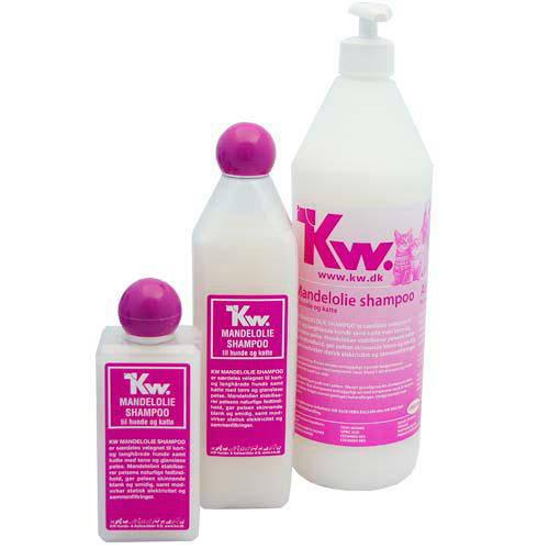 Kw Champú de aceite de almendras para perros y gatos