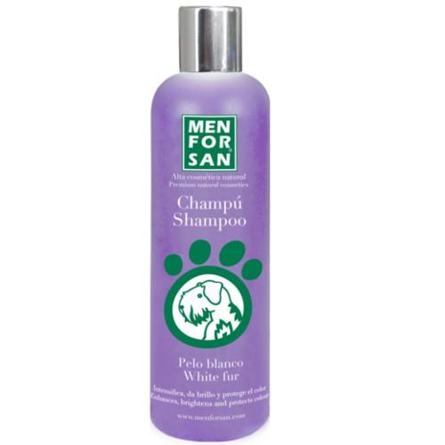 Champú para perros de pelo blanco Menforsan