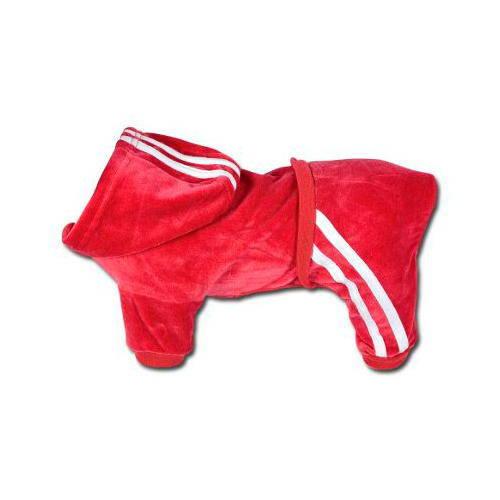 Sport sweatshirt in red velvet