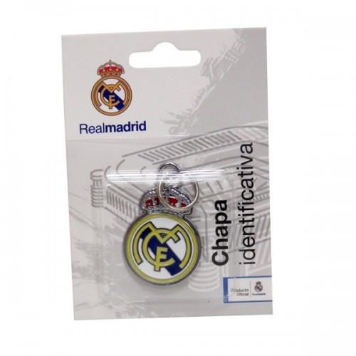 Chapa identificativa escudo Real Madrid para perros color Blanco