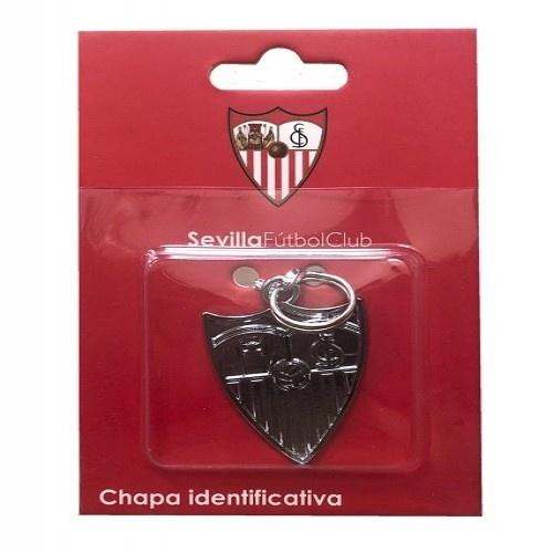 Chapa identificativa escudo Sevilla para perros color Rojo