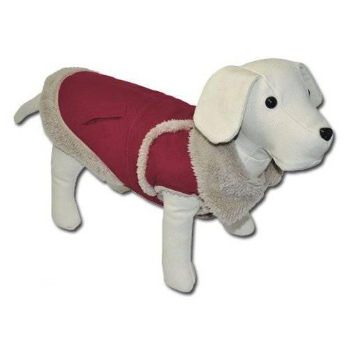 Chaqueta borreguito Helsinki rojo para perros