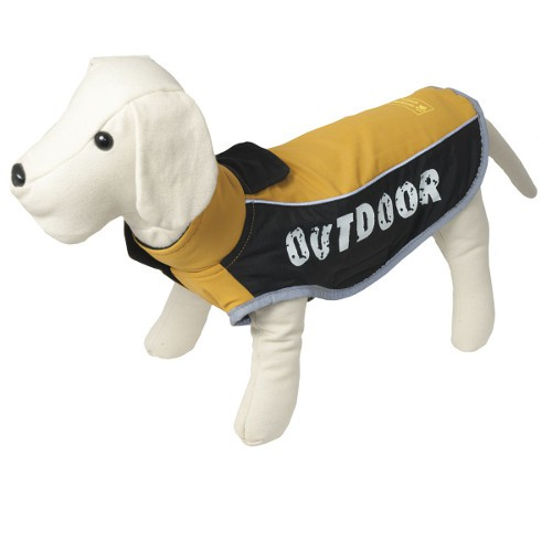 Outdoor Mustard waterproof jacket for dogs