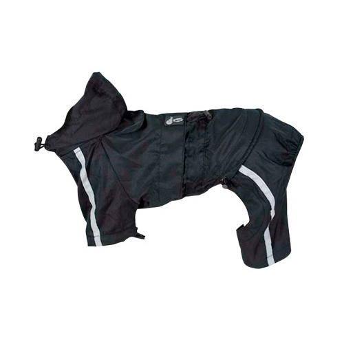 Chubasquero reflectante negro con patas