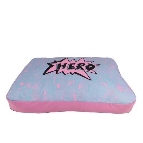 Colchón de diseño Happy Hero Pink para perros color Rosa y azul