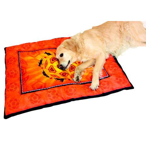 Cojín grande con diseño tribal para perros