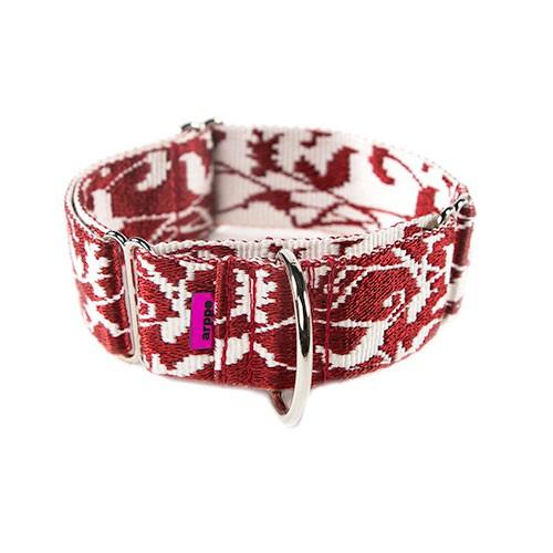 Collar de adiestramiento para perros regulable Jacquard rojo
