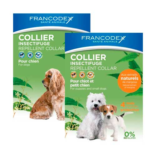 Collar antiparasitario natural para perros Francodex