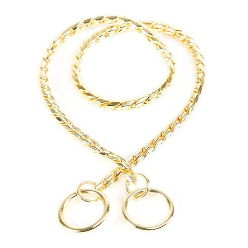 21b2dfbd2a14 Collar de cadena redonda dorada para perros - Tiendanimal