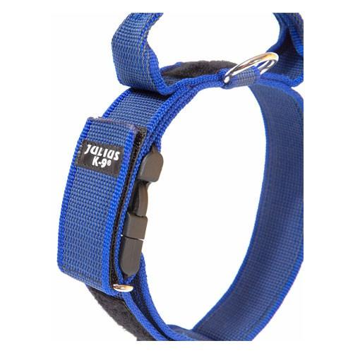 Collar con asa y doble cierre Julius K9 color Azul