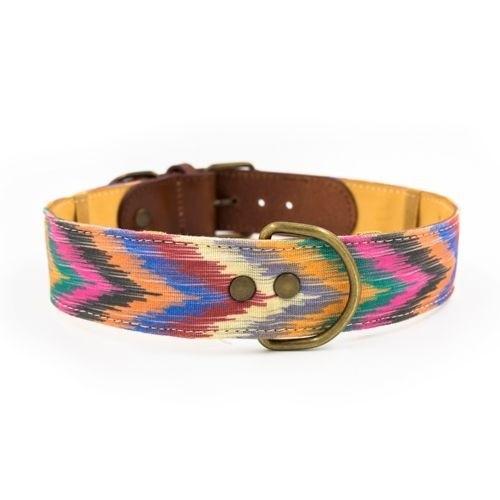 Collar Zoe hecho a mano para perros color Multicolor