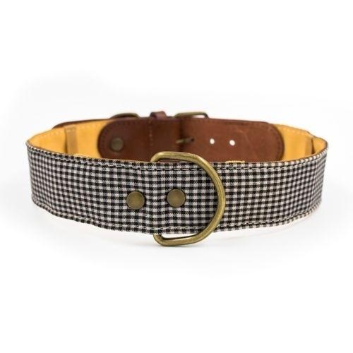 Collar Milo hecho a mano para perros color Gris/Marrón