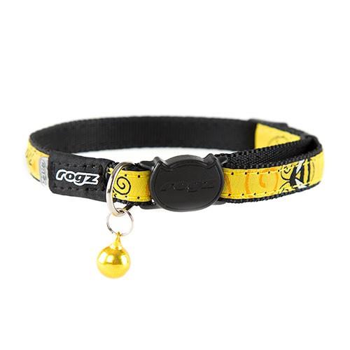 Collar para gatos amarillo Rogz Fancycat con cascabel