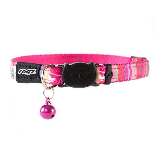 Collar para gatos rosa Rogz Neocat con cascabel