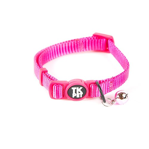 Collar para gatos tk pet classic nylon rosa con cascabel for Nylon para estanques