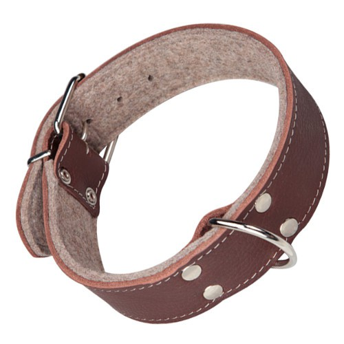 Collar para perros con forro Superfelt marrón