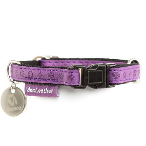 Collar para perros MacLeather Classic Color Lila