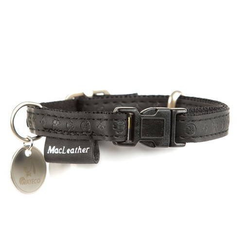 Collar para perros MacLeather Classic Color Negro