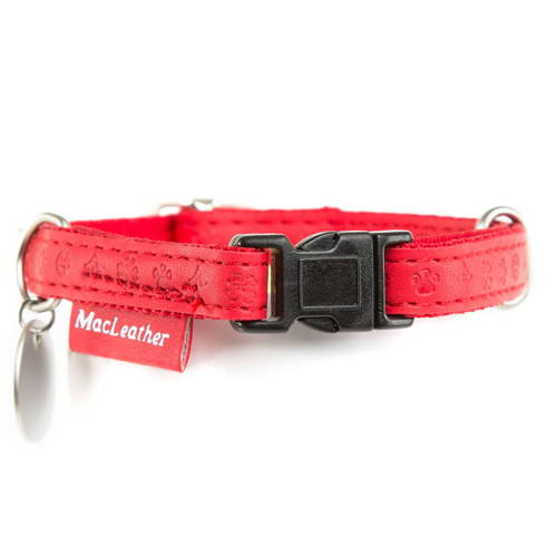 Collar para perros MacLeather Classic Color Roja