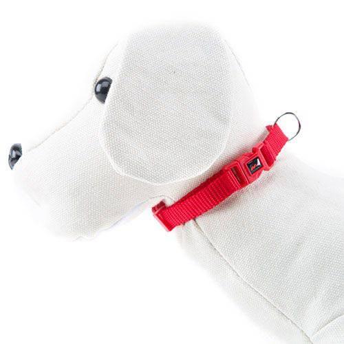 Collar para perros de nylon Linea Basic Color Rojo