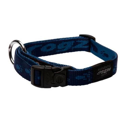 Collar para perros Rogz Alpinist azul con letras estampadas