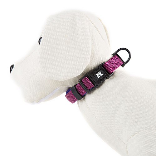 Collar para perros TK-Pet Neo Classic morado de nylon y neopreno