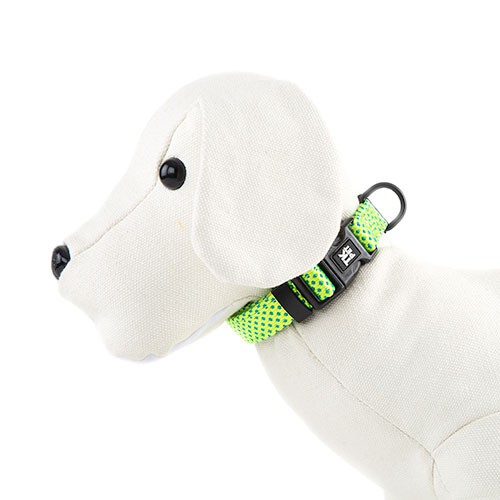 TK-Pet Neo Design Nylon and neoprene lime necklace for dogs