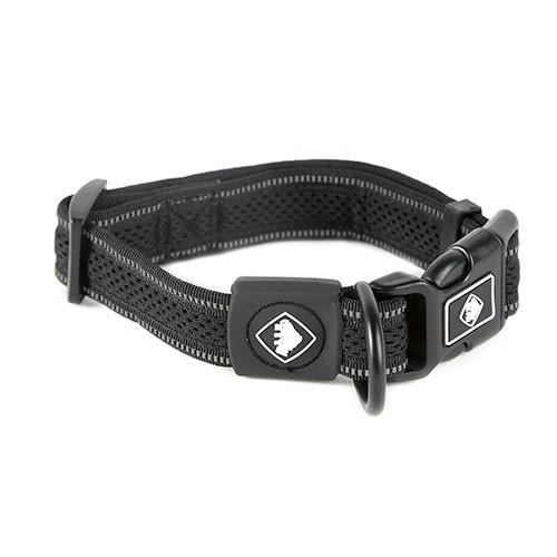 Collar para perros TK-Pet Reflective Comfort negro