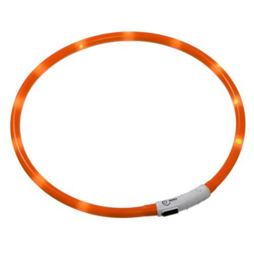 Collar LED recargable por USB Visio Light naranja