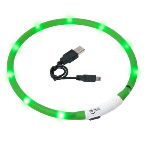 Collar LED recargable por USB Visio Light verde