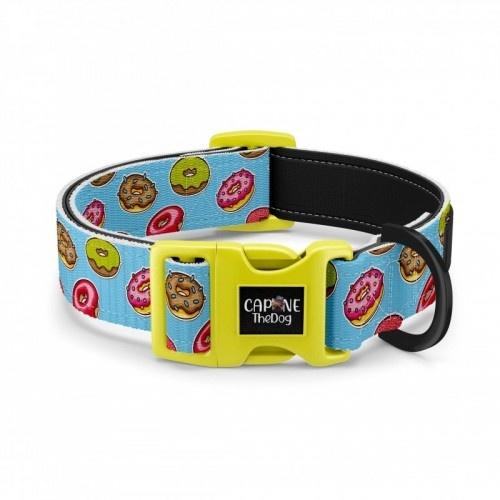 Collar regulable CaponeTheDog para perros estampado Donuts