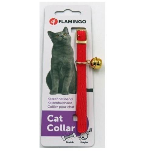 Collar elástico para gatos rojo