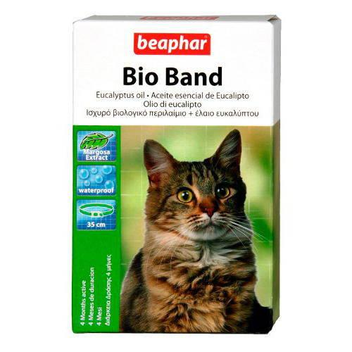 Bio Band Collar mentolado anti-insectos natural para gatos